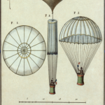 Da Vinci's designs for an early silk parachute