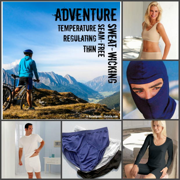 Thermals and base layers for outdoor sports