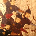 Mongol warrior wore silk to protect them from swords and arrows.