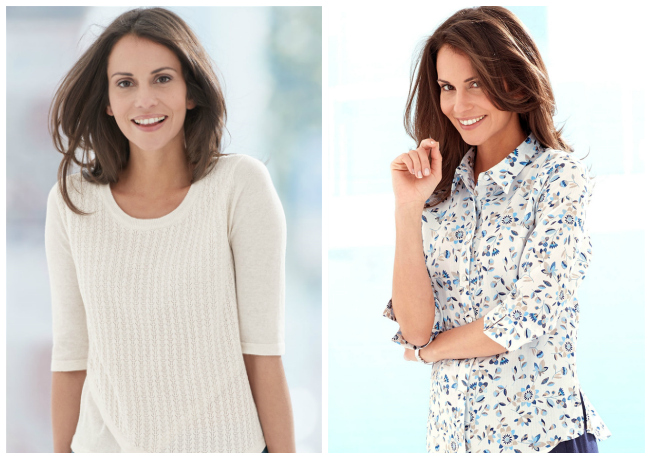 Soft cotton knits and blouses