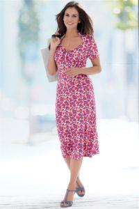 Pure Silk Jersey Printed Dress