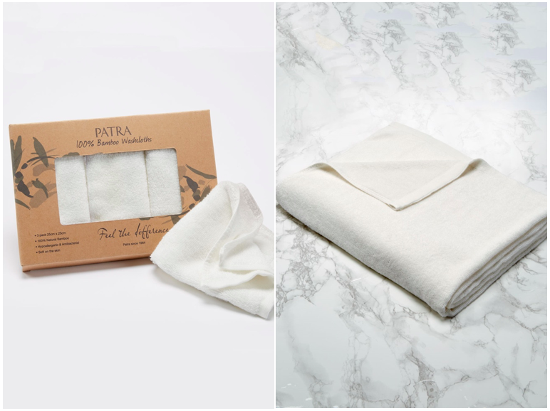 Bamboo face cloths and towels