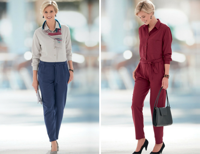 Outfits with Noil Silk Tapered Trousers
