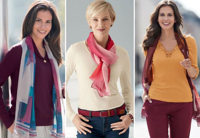 Silk scarves for women