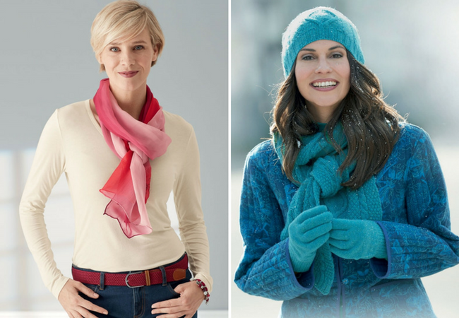 scarves, belts and accessories for autumn and winter