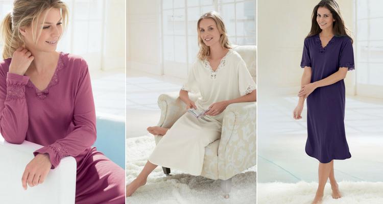 Silk-cotton nightwear