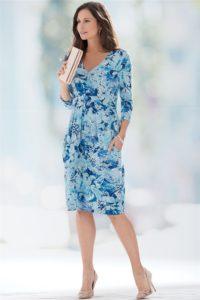 Patra's Jersey Dress with Pleats