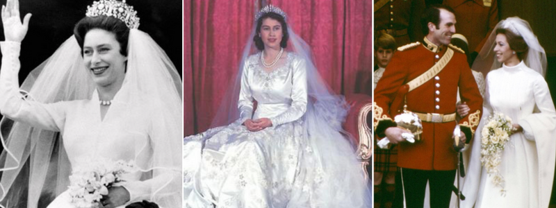 Wedding dresses of the royals