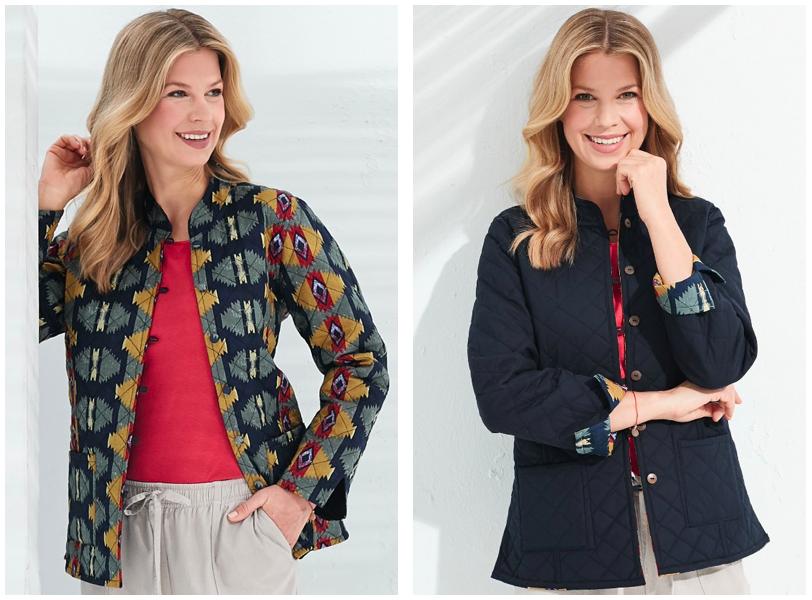 Autumn layered looks like Patra's reversible jacket
