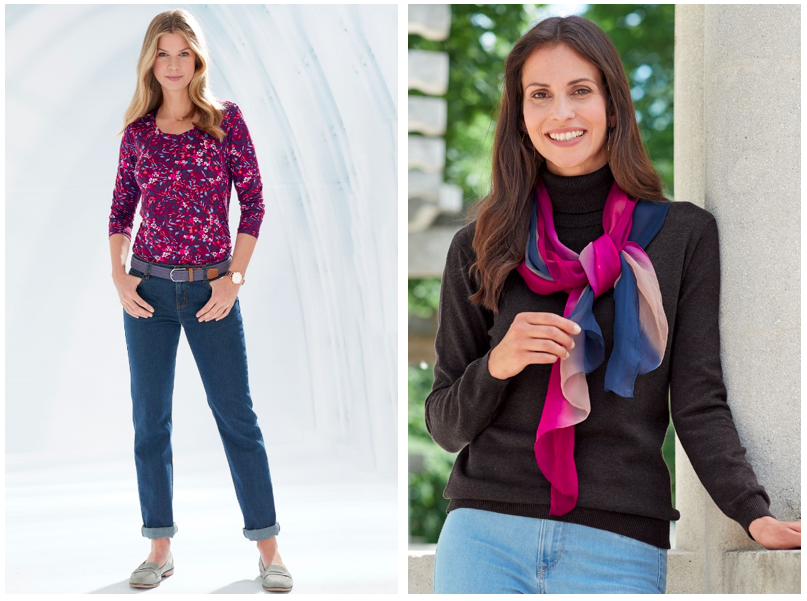 Jeans and a scarf are a great way to dress in autumn