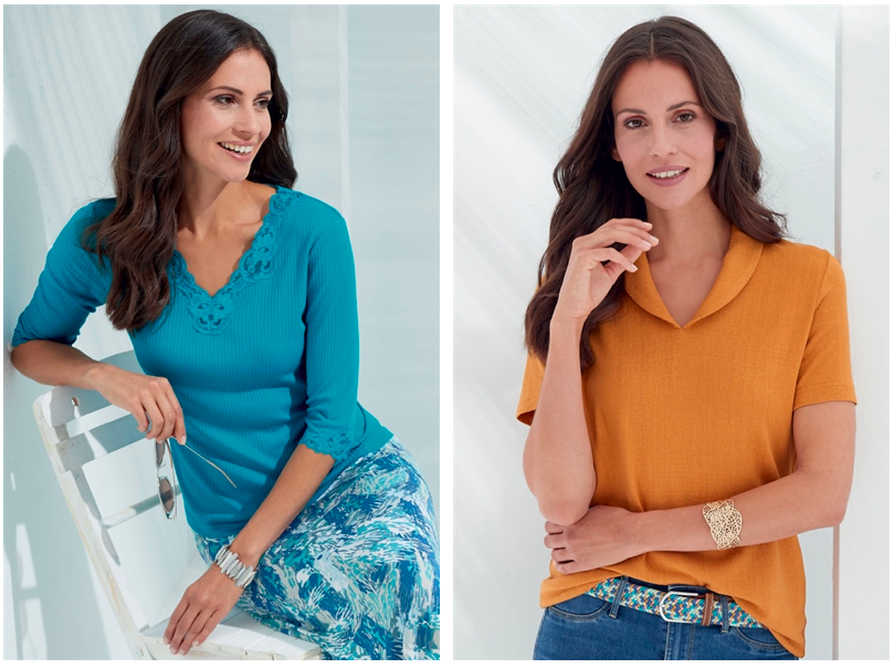 Colourful clothing for mature women