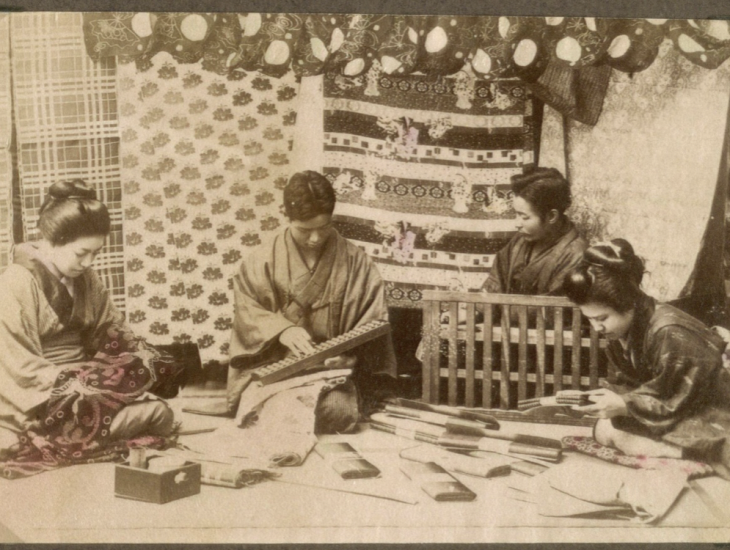 Silk making in Japan