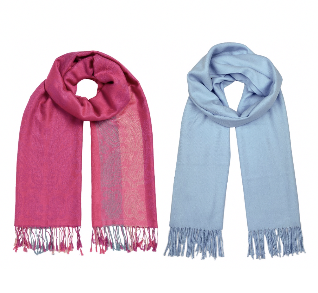 Naturally chic scarves