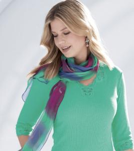 Silk scarf style