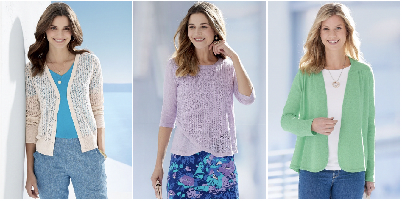 cardigans and knit wear for working from home