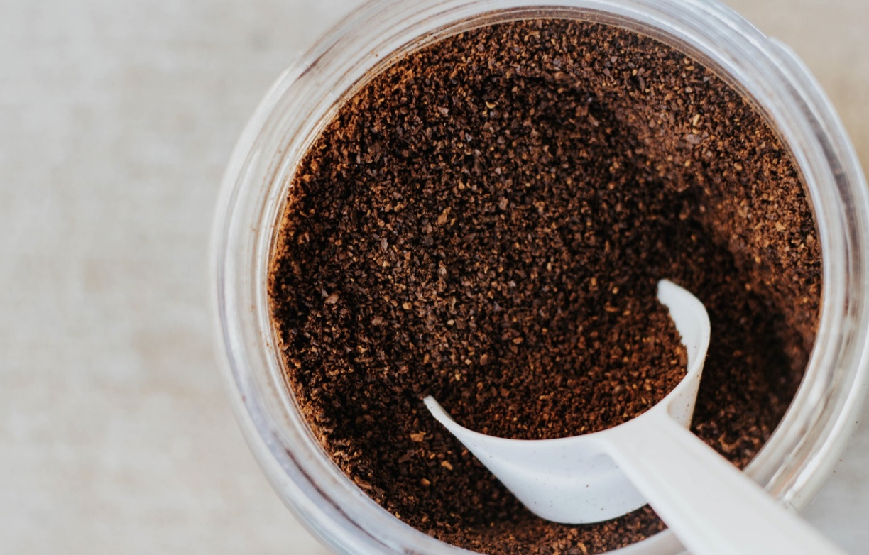 Keep clothing smelling fresh with coffee grounds