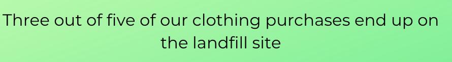 Fast fashion in landfill